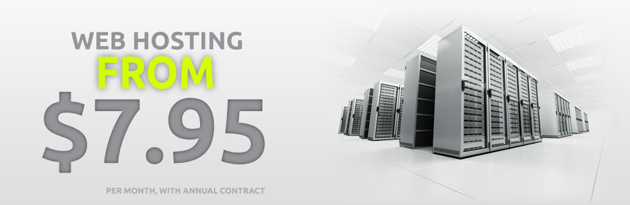 Web hosting starting at $7.95